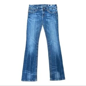 Miss Me Chain & Leather Pocket Jeans